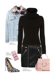 """""""Never Gonna Leave You, Babe'"""" by dianefantasy ❤ liked on Polyvore featuring Alexander Wang, Yves Saint Laurent, Exclusive for Intermix and Roger Vivier"""