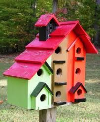 Birdhouses on pinterest bird houses rustic birdhouses for Types of birdhouses for birds