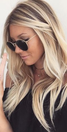 34 blonde hair color trends for 2019 - latest inspiration for hair colors . - 34 blonde hair color trends for 2019 – latest inspiration for hair colors … – 34 blonde hair - Blonde Hair Looks, Blonde Wig, Butter Blonde Hair, Light Blonde Hair, Icy Blonde, Beachy Blonde Hair, Highlighted Blonde Hair, Blonde Hair With Color, Natural Blonde Hair With Highlights
