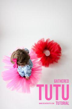 Gathered Tutu Tutorial - super easy to make! // Delia Creates