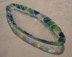 Colorful mosaic oval Haroseth bowl