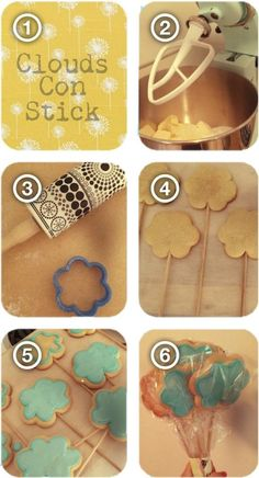 Cloud biscuits cookie Pops  - too cute!