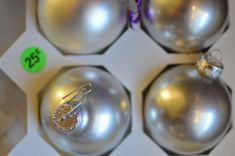 Stripping old ornaments to msake cute clear DIY
