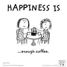 #coffee #addicted | HAPPINESS IS... enough coffee. (https://www.facebook.com/itsthehappypage)