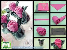 #tovaglioli #fiore #rosa