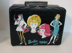 1963 Barbie and Midge Lunch Box, Thermos Brand, MATTEL
