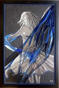 Mosaic Portrait, Mosaic Art, Shades Of Grey, Decoration, Portraits, Les Oeuvres, Maya, Artist, People