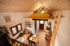 This is The Odyssee Tiny House on Wheels. It's built by Baluchon Tiny Houses in France. Please enjoy, learn more, and re-share below. The Odyssee Tiny House Tiny House Talk, Tiny House Company, Tiny House Living, Tiny House Design, Tiny House On Wheels, Small House Plans, Small Living, Living Area, Living Room
