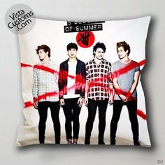 5 seconds of summer cross red Pillow Case, Chusion Cover ( 1 or 2 Side Print With Size 16, 18, 20, 26, 30, 36 inch )