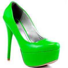 Veda Soul Ellen - Neon Green ($60) ❤ liked on Polyvore