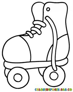Roller Skate Coloring Pages Super Coloring Pages, Pattern Coloring Pages, Animal Coloring Pages, Colouring Pages, Coloring Pages For Kids, Coloring Sheets, Coloring Books, Roller Skating Party, Skate Party