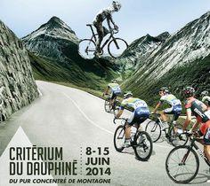 PRO CYCLING WORLDTOUR 2014 Critérium du Dauphiné Route Map & Poster #CritériumduDauphiné   #Dauphine