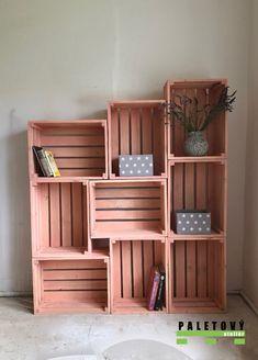 Stylový nábytek z palet Cool Rooms, New Room, Pet Shop, Kitchen Furniture, Mobiles, Bookcase, Sweet Home, Room Decor, Design Inspiration