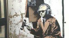 Close up of street art in Cheltenham