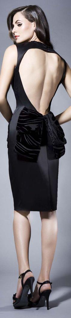 black cocktail dress in black