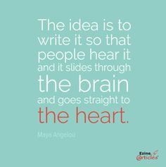 Write for the heart.