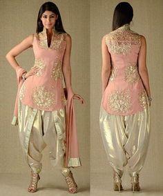 Georgette In Kurta & Dupatta, Simar In Dhoti Salwar Salwar Designs, Kurti Designs Party Wear, Patiala Dress, Dhoti Salwar Suits, Shalwar Kameez, Designer Salwar Suits, Pakistani Dresses, Indian Dresses, Indian Outfits