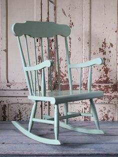 Child's rocking chair...really like this color. Gender neutral