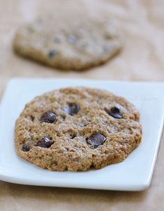 Healthy Chocolate Chip Cookies for Two