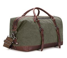 Leather Pu Weekender Bags Leather Leather Canvas Real Leather Canvas Bag qqgHvanx