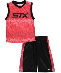 STX Little and Big Boys' 2 Piece Performance Athletic Tank and Short Set ** Check this awesome image @