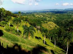 Landscape in the Dominican Republic.