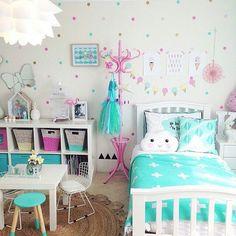 Elegant Kids Bedroom Design Ideas For Little Girls 18 Teenage Girl Bedrooms, Little Girl Rooms, Girls Bedroom, Bedroom Decor, Kid Bedrooms, Childrens Bedrooms Girls, Trendy Bedroom, Bedroom Colors, Bedroom Furniture