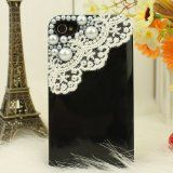 3d Bling Crystal Iphone #Case for At Verizon Sprint Iphone 4/4s Pearls and Lace - Black