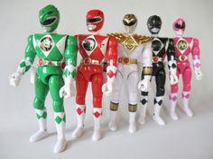 Mighty Morphin POWER RANGERS Action Figures by ThoughtfulVintage #MMPR #PowerRangers #Ninja