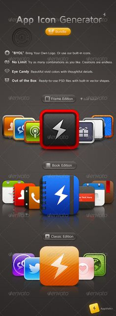 App Icon Generator Bundle - Software Icons