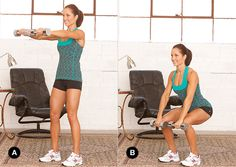 Stay Home, Get Slim-Squat with Front Lift