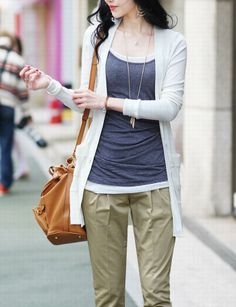 Casual Plunging Neck Single-Breasted Solid Color Long Sleeves Cotton+Ployester Cardigan Coat For Women