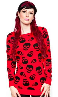 Old skull cut outs sewn on to sweet sweaters!!! Copyright mandythemushroom:-) :-) :-) :-)