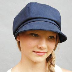 aa0bc2a12f8 Womens newsboy capWomens navy cap cotton cap captains by ZUThats Navy Cap