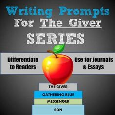the giver journal quickwrite writing prompts powerpoint 40 rigorous prompts to use in journals essays or assessments for all