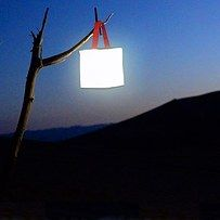 A collapsible solar-powered lantern. | 29 Insanely Clever Products That Will Make You Want To Go Camping