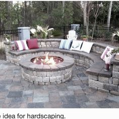 Love, love, this outdoor patio with firepit