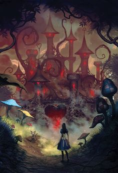 Creepy and cool fan art for the game Alice: Madness Returns. Alice in Wonderland, love it! Alice Madness Returns, Elfen Fantasy, Fantasy Art, Tim Burton, Illustrations, Illustration Art, We All Mad Here, Go Ask Alice, Alice Liddell