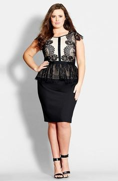 Plus Size Dress - City Chic Peplum Dress #plus #size #fashion