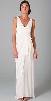 Dress ideas for a Catalina Island Wedding...CM & LB 2014. Alice + Olivia faux wrap gown
