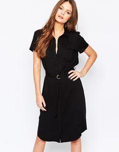 New Look Belted Midi Shirt Dress