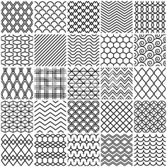 Doodle Patterns 835347430864158760 - Seamless pattern royalty-free stock vector art Source by enolaaudureau Line Design Pattern, Line Patterns, Simple Geometric Pattern, Geometric Lines, Doodle Patterns, Zentangle Patterns, Pattern Drawing, Pattern Art, Free Pattern