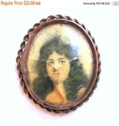 """❘❘❙❙❚❚ CIJ SALE ❚❚❙❙❘❘   This is a wonderful Vintage Antique Gothic Goth Victorian Lady Copper Set Picture Cameo Brooch!  This pin measures 2 1/8"""" high by 1 7/8"""" across, ... #teamlove #ecochic #vogueteam"""