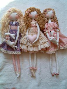 Handmade rag Vintage clothes  girls.