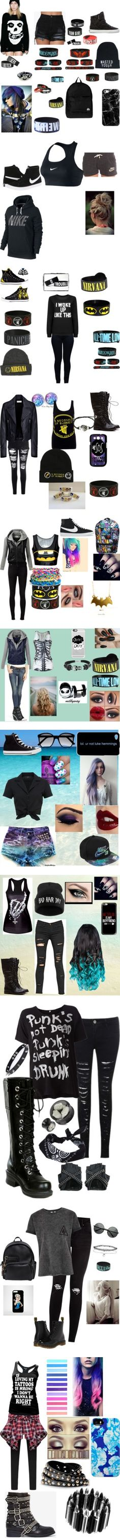 Story outfits by plzexusemyclumsiness on Polyvore featuring Iron Fist, Supra, Casetify, Quiksilver, Anastasia Beverly Hills, NIKE, Armani Jeans, Converse, Glamorous and Balenciaga
