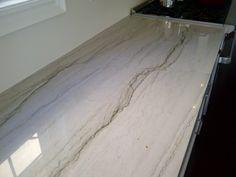 luci de luna quartzite with eased edges  (also called Bianca quartzite?)