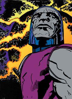Darkseid by Jack Kirby Comic Book Artists, Comic Artist, Comic Books Art, Dc Comics Art, Marvel Comics, Kirby Character, Comic Character, Jack Kirby Art, New Gods