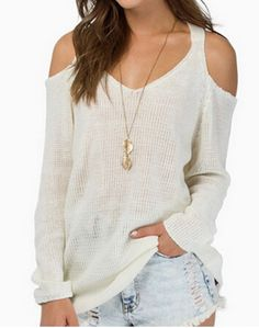 cut out sweater| $15.50  grunge hipster ulzzang k fashion fachin sweater top under20 under30 rosegal free shipping