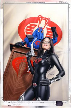 Baroness and Cobra Commander - Cosplay from GI Joe Comic Books Art, Comic Book Characters, Comic Art, Fictional Characters, Bd Comics, Anime Comics, Baroness Gi Joe, Chica Fantasy, Cobra Commander
