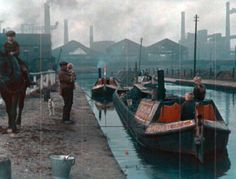 These color photographs show a very different side to London from the traffic-snarled metropolis of today. They portray a more genteel city,. Canal Barge, Canal Boat, Steam Boats, London Pictures, Love Boat, Narrowboat, Places In Europe, Old London, Best Vacations